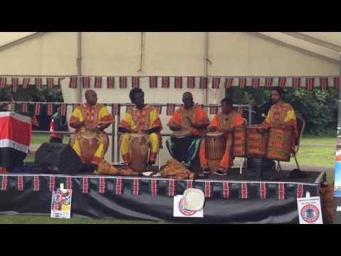 London African Drumming at Kenya in the Park 2016  Ghanaian music