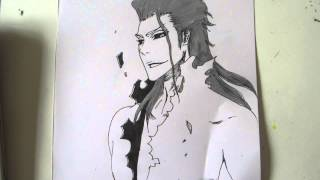 How to draw Aizen Sousuke with long hair 藍染 惣右介