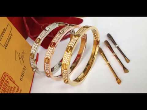 copy cartier love bracelet jewelry replica - YouTube  copy cartier lo...