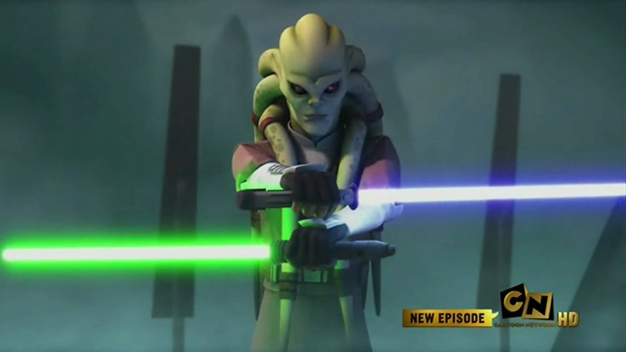 jedi master kit fisto vs general grievous - youtube