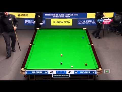 Snooker. Lisbon Open 2014.Stephen MAGUIRE-John HIGGINS