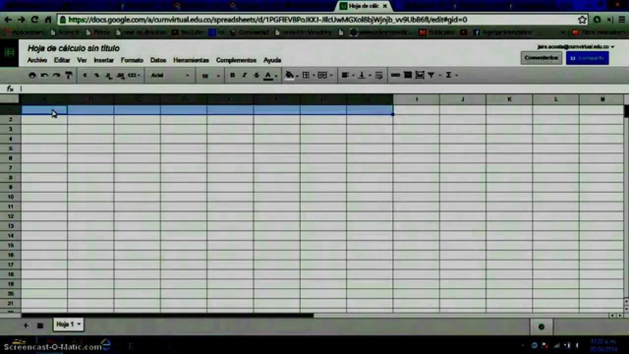 Combinar celdas en Google Hoja de Cálculo - YouTube