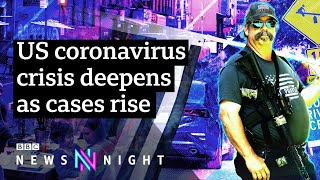 As Us Covid-19 Cases Rise Above 2.5m, Is The Country Undergoing A Second Wave? - Bbc Newsnight