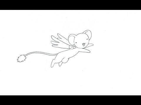 Como dibujar a Kero (Cardcaptor Sakura) (rápido) - Бокс Видео