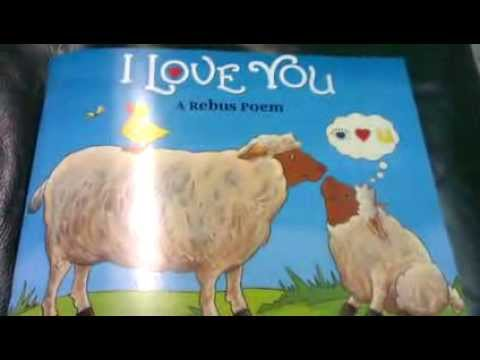 Picture Book- I Love You ( A Rebus Poem) By Jean Marzollo ♥