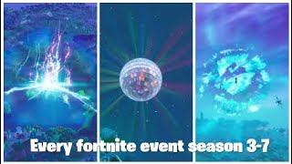 Every Fortnite live event so far Season 3-7