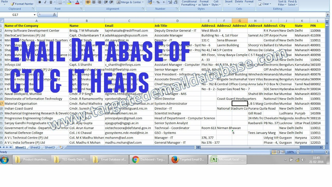 Email Database of CTOs & IT Heads