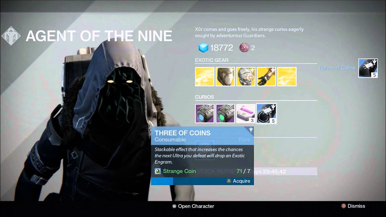 Destiny The Taken King Xur Location Oct 09 15 Agent Of The Nine Location