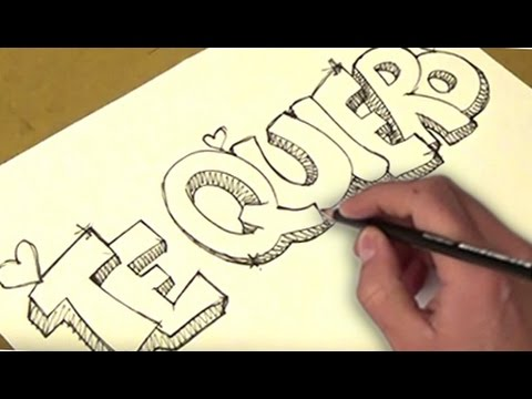 como dibujar te quiero | como dibujar te quiero entretenido | paso a paso