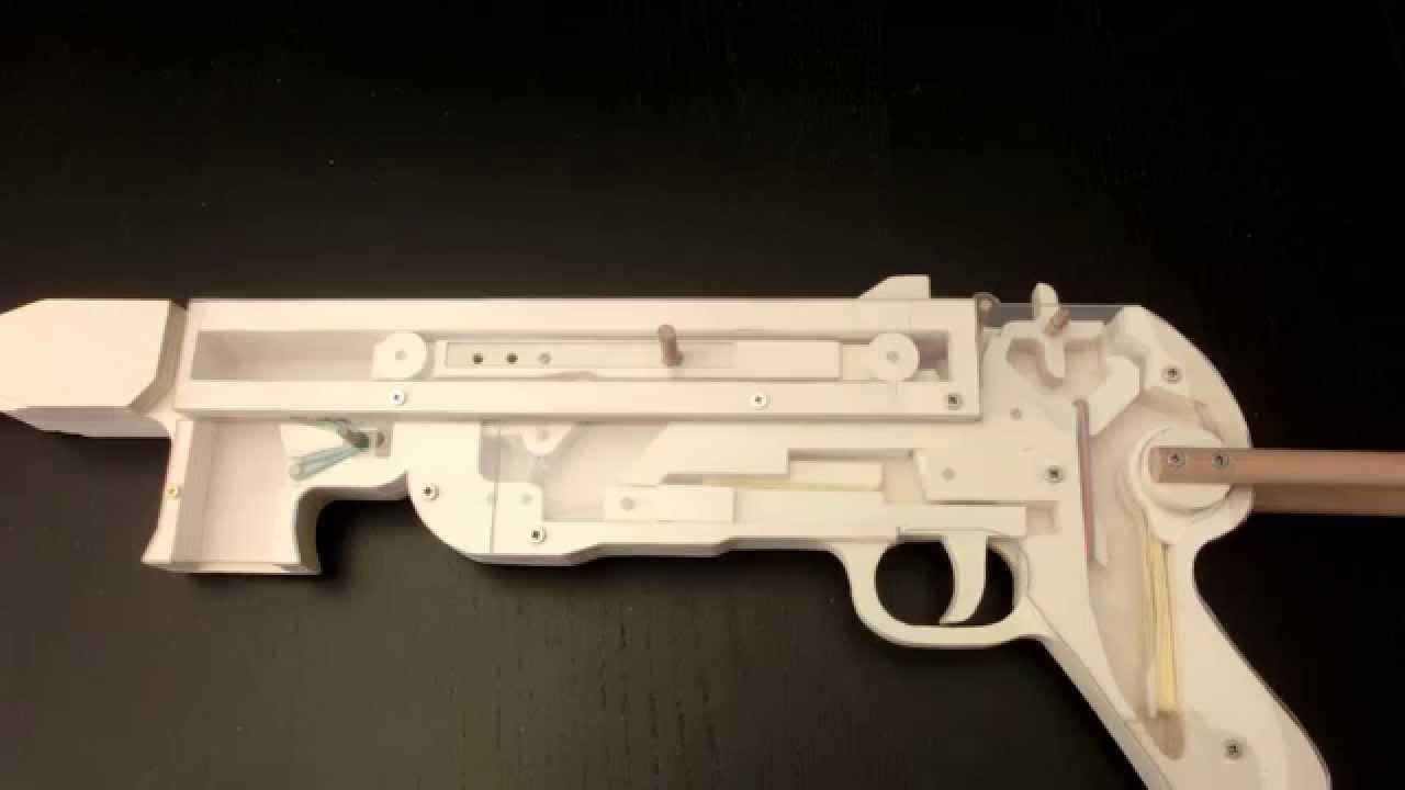 Mp40 Rubberband Gun Insight View Youtube
