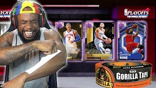 Snatching Super Gorilla Tape Strips Off Myself For Playoffs 99 Opals! NBA 2K19