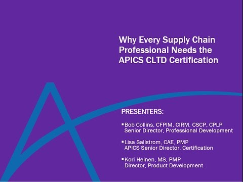 Why Every Logistics Professional Needs the APICS CLTD