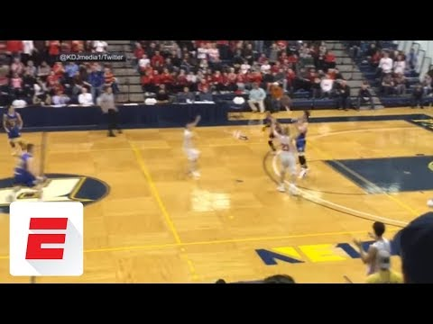 High schooler drains crazy buzzer-beater from beyond half court | ESPN