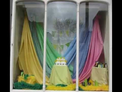 Easter window display decorating ideas - YouTube
