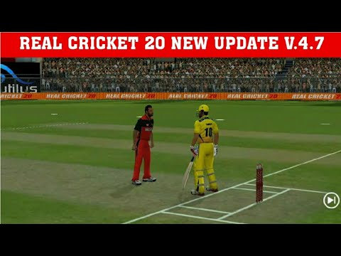 Download REAL CRICKET 20 NEW UPDATE V.4.7 UPDATE SQUAD & MORE CHANCES RC20 NEW UPDATE