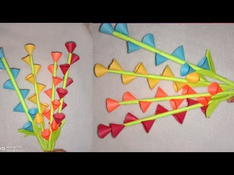 sirf 2min Easy and beautiful paper flower making   diy paper flower craft // life with pooja