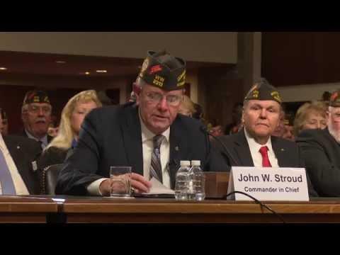 VFW Commander-in-Chief John W. Stroud's Complete Testimony