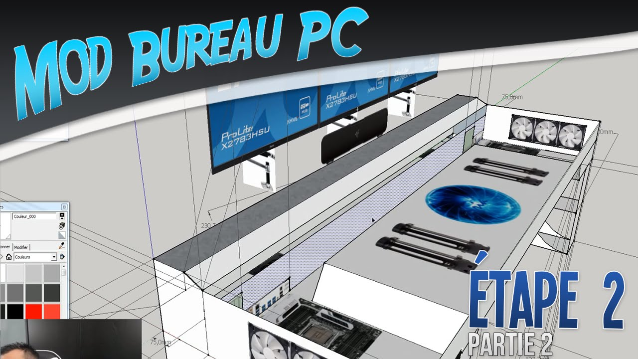 Bureau pc mod bureau pc tape 7 phase design conception for Bureau youtube