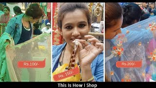 Shopping Haul | This Is How I Shop & Make Designer Saree In Less Than Rs. 500/-
