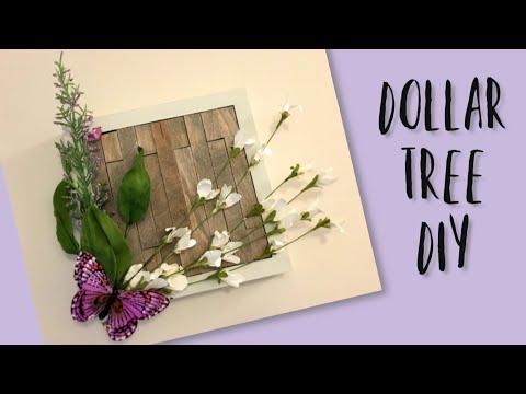 DOLLAR TREE DIY FLORAL WALL DECOR