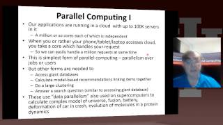 IU X-Informatics Unit 17: Parallel Computing 1:Parallel Computing and Big Data