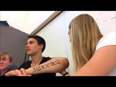 tattoo parlor in english class?!?!? not clickbait