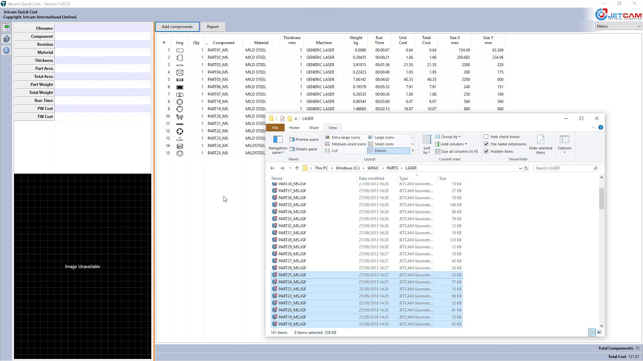 Sheet Metal Part Costing Software - free for all customers