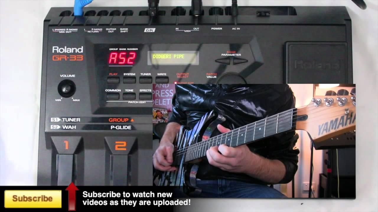 gr 33 effects board gk 3 midi guitar pickup youtube. Black Bedroom Furniture Sets. Home Design Ideas