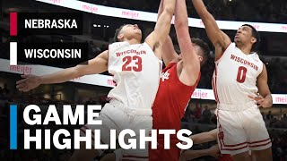 Highlights: Trice's Dagger Lifts Badgers to Semis   Wisconsin vs. Nebraska   March 15, 2019