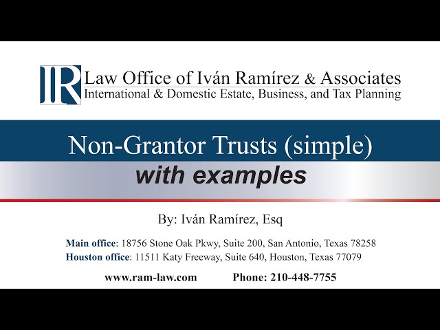 Non-Grantor trusts (simple), with examples