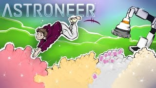 Astroneer - UNLIMITED RESOURCES & VEHICLE TRAIN w/ CRANE & DRILL HEAD #4 - Astroneer Alpha Gameplay