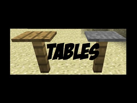 how to make tables in minecraft! [minecraft furniture episode 1