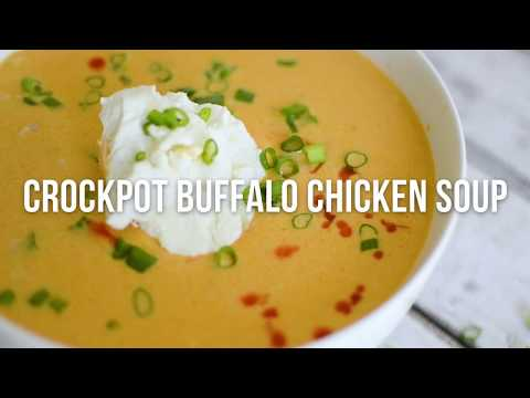 Keto Crockpot Buffalo Chicken Soup