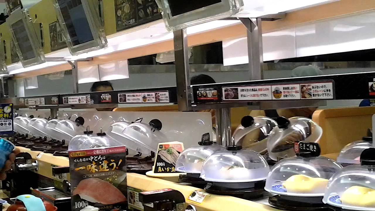 Automated Sushi Restaurant At Matsudo Japan Youtube
