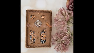 How to Make Royal Icing Steampunk Distressed Leather Book Cookies 📔📚⚙️