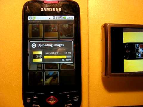 Eye-Fi Droid on Samsung Galaxy Spica i5700