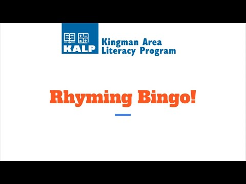 Play rhyming bingo for fun and learning!