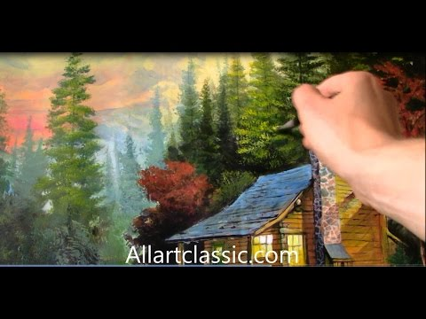 Beautiful romantic painting in the woods youtube for Classic house tutorial