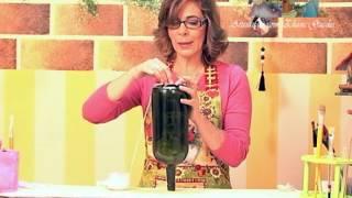 Reciclando garrafa de vinho
