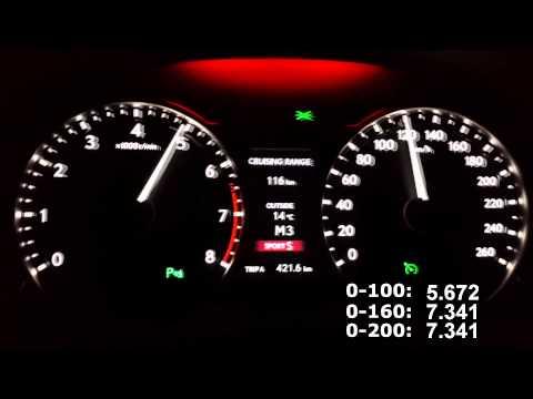 Lexus gs350 F Sport 2013 acceleration from 0-200