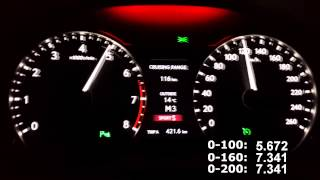 Lexus gs350 F Sport 2013 acceleration from 0-200