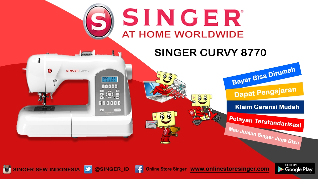 Mesin Jahit Digital Portable Singer Curvy 8770 Huruf Youtube 6660 Starlet