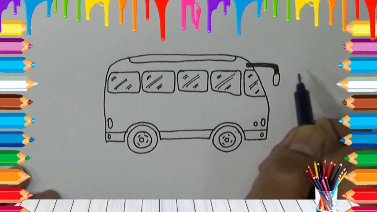 dibujos faciles paso a paso para niños | CÓMO DIBUJAR UN AUTOBÚS ...