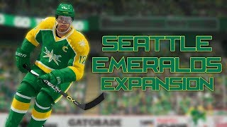 Seattle Emeralds Expansion Franchise [Ep. 1, S1] - Expansion Draft + First Game (NHL 18 Gameplay)
