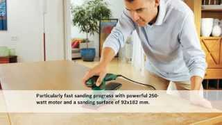 Features Of: The Bosch PSS 250 AE Orbital Sander