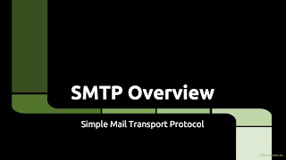 SMTP Overview