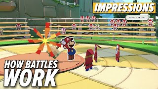 How Paper Mario: The Origami King's Battles Work