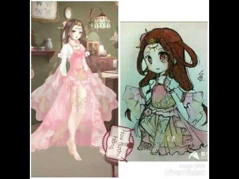 Hình chibi và hình trong game Nikki ngôi sao thời trang