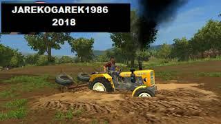 Ciągnik w polu zakoapłem Jarekogarek1986 wersja FARMING SIMULATOR 17 AGRO KONDZIO