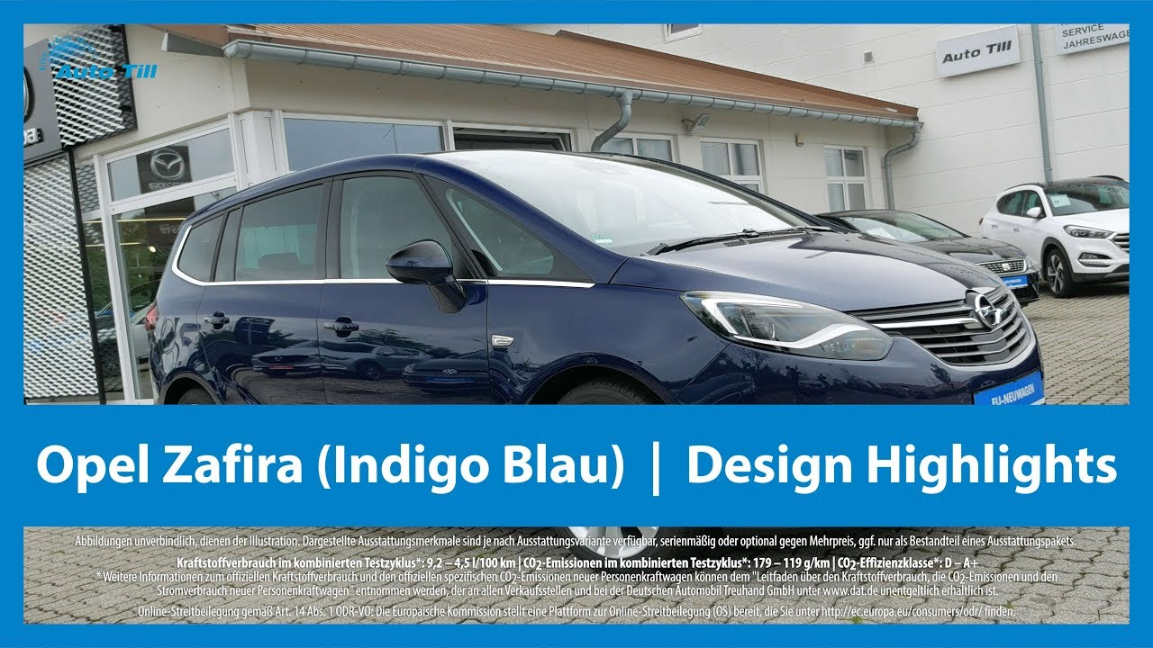 opel zafira indigo blau design highlights 4k uhd youtube. Black Bedroom Furniture Sets. Home Design Ideas